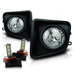 For 14 18 Toyota Tundra Fog Lights W wiring Kit Smd Led Bulbs Clear