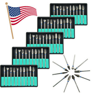 50pcs Dental Polishing Burs Polisher Tungsten Carbide Steel Tooth Drill 2 35mm