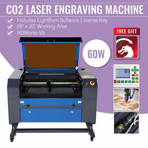 Omtech Upgraded Co2 Laser Engraver Cutting 60w 28 x20 with Lightburn Ruida