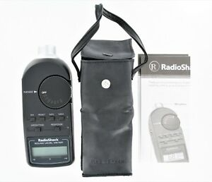 Radio Shack Digital Sound Level Meter Tester 30 2055 With Case Manual