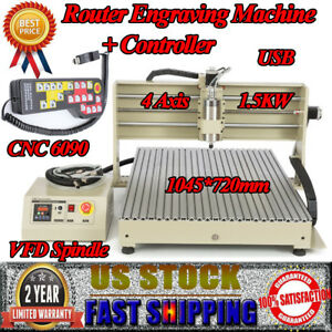 4axis Router Engraver 6090 1 5kw 3d Cutting Milling Engraving Machine controller