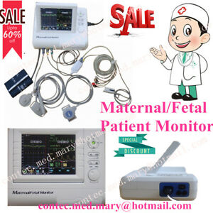Maternal fetal Patient Monitor Fhr toco ecg nibp spo2 Cms800f 8 4 Color Tft new