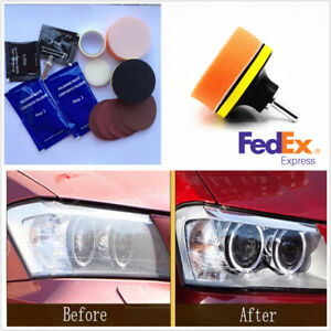Durable Car Headlight Lens Restoration Repair Headlamp Cleaner Polisher Tool Kit