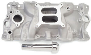 Edelbrock 2703 Performer Eps Intake Manifold Satin For Chevy 262 400 S b V8