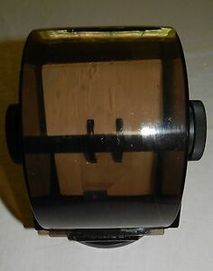 Rolodex Wood Grain Large Jumbo Sw 35 Vtg Swivel Rotary Card Holder Free Ship