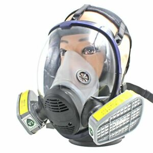 Full Facepiece Respirator Anti Acid Gas Mask For Painting Spraying Safety Mask W