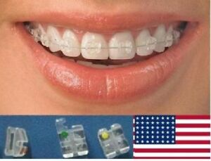 Absolute Clear Sapphire Ceramic Orthodontic Brackets Braces Roth 022 Us Seller