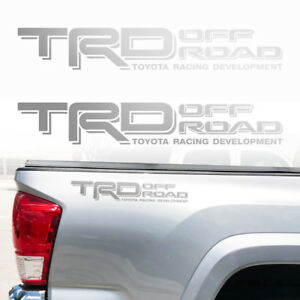 Trd Off Road Toyota Tacoma Tundra Decals Sticker Truck Bedside Decal 2decals