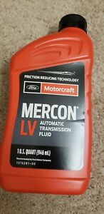 Ford Motorcraft Mercon Lv Automatic Transmission Fluid Xt 10 Qlvc New 1 Quart