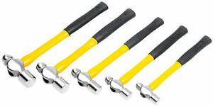 Performance Tool 5 pc Fiberglass Ball Pein Hammer Set M7134