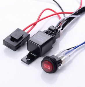40a Led Work Fog Light Bar Wiring Harness Relay Kit On Off Switch Off Road 12v