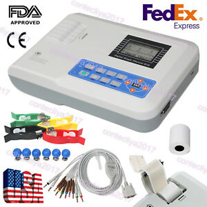 Contec Digital 1 Channel 12 Lead Ecg Machine Ekg Electrocardiograph Ecg100g Fda