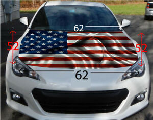 American Flag Hood Wrap Sticker Vinyl Decal Car Truck Suv Graphic