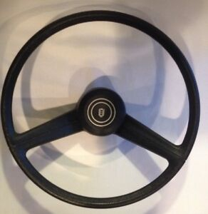 Vtg 80s Ford Or Mercury Black Steering Wheel With Button Oem New