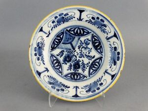 Antique Blue White Dutch Delft Plate