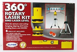 Alton Rotary Laser Level Kit 132300 New In Box 6pcs W Case