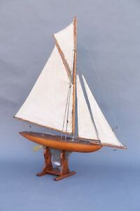 19th C English Pond Yacht Schooner Model