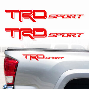 Trd Sport Tacoma Tundra Truck Toyota Decals Stickers Graphic Vinyl Cut Decal Dd
