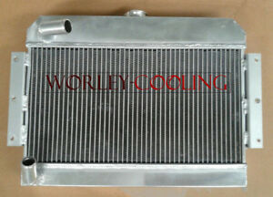 3 Row 56mm Aluminum Alloy Radiator For Mgb Gt Roadster Top Fill 1968 1975