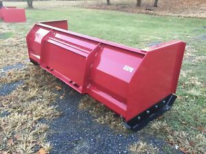 New 10 Foot Snow Pusher Box Blade For Skid Steer Loader Usa Made High Quality