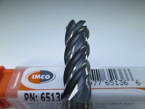 Imco Carbide 3 8 End Mill 060 Radius 5 Flute Inconel Hard Steel Milling Tool