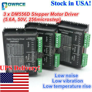 us Stock 3p Digital Stepper Motor stepping Motor Driver Dm556d 50v 5 6a For Cnc