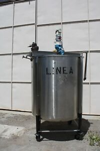 Used Stainless Steel 330 Gal Tank With Heating Element