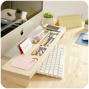 Desk Organizer Wooden Office Holder Storage Drawer Pen Desktop Tray Personalized