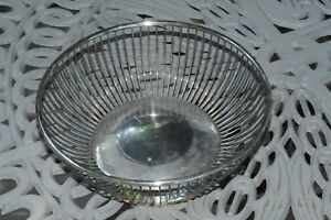 Silver Plate Bread Basket Made In Italy