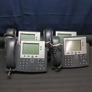 Lot Of 4 Cisco Cp 7942g Ip Business Phones