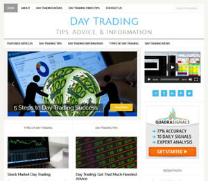Day Trading Blog Website Business For Sale With Daily Auto Updating Content