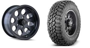 5 17 Ion 171 Black Wheels Jeep Wrangler Jk Jl 33 Mud Mt Tires Package Set