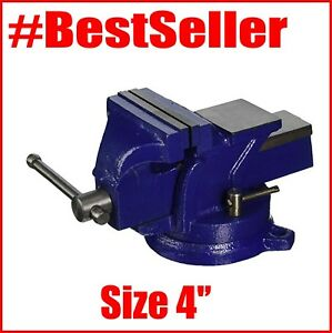 Big Size Anvil Top 4 Heavy Duty Bench Vise 360 Swivel Base With Lock