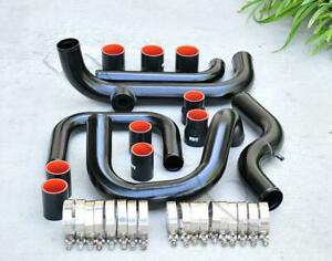 Black Intercooler Piping Sqv ssqv Flange Black Coupler Kit For 92 00 Civic