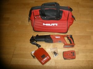 Hilti Wsr 18 a Reciprocating Saw 18v Cordless W one Battery cahrger Soft Case