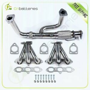 Stainless Racing Header Exhaust Manifold For 99 01 Honda Accord 3 2l 3 0l