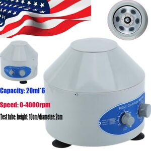 800 1 4000rpm Electric Centrifuge Machine Lab Medical Practice With 6x20ml Rotor