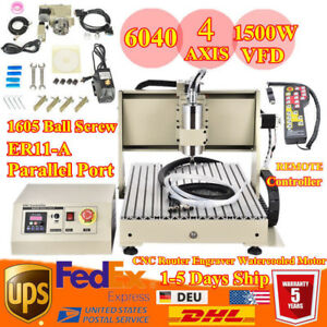 4axis 1 5kw Desktop Cnc Router Engraver Mill Drill Machine Cnc6040 110v 220v Opt