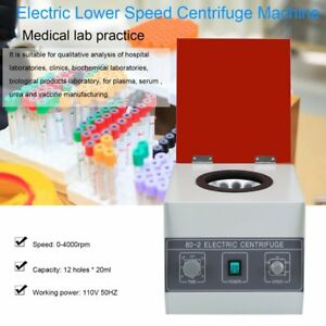 80 2 Electric Centrifuge Machine Lab Medical Practice Speed Control 20ml X 12 Jm