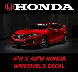 1 Honda Windshield Window Banner Jdm Decal Vinyl Sticker Race Civic Accord Sport