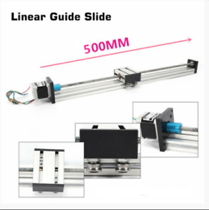 Cnc Linear Stage Actuator Slide Guide 300mm Stroke Stepper Motor High Accuracy