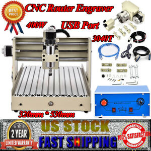 4 Axis Router Engraver 400w Usb Pcb Drilling Carving Engraving Machine 3d Cutter