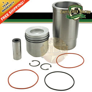 Ar71593 New Piston And Sleeve Set For John Deere 1520 1530 350b 2030 2120 401a