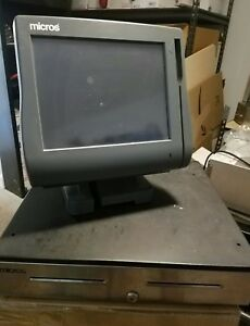 Micros Workstation Ws4 Lx 12 1 Touchscreen System Used And Register