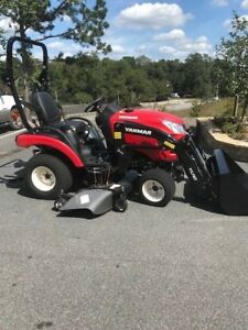 Yanmar Sa221 Tractor With Loader 60 mid Mount Mower