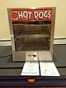 Apw Ds 1a Hot Dog Steamer Bun Warmer 150 Franks 60 Buns 120 V