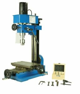Mini Metal Mill Drilling Machine Press Benchtop 3 8 Drill Capacity With Cutters