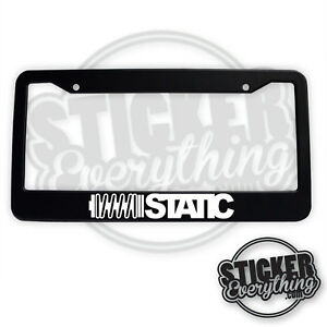 Static Coilover License Plate Frame Low Vw Car Window Slammed Racing Stance Jdm