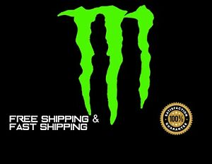 Monster Energy Car Decal Sticker Vinyl Green 4