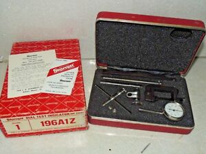 Starrett 196a1z Dial Test Indicator Set Edp 50697 With Case Box